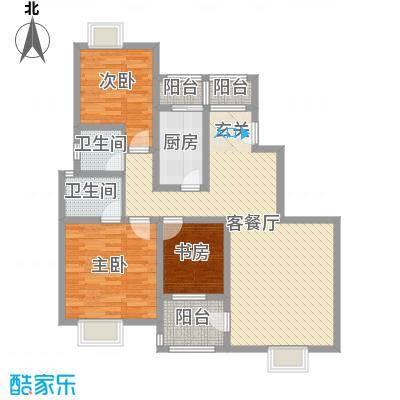 曲江明珠9#、12#A户型3室2厅2卫1厨