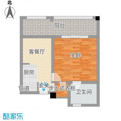 金汤湾海水温泉小镇65.00㎡佩夏公寓B05、07、09、11户型1室1卫1厨