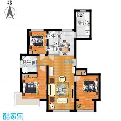 广阳-银河领域130平米三居室