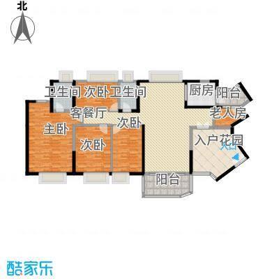 中海金沙熙岸184.00㎡1座奇数层04户型4室2厅2卫
