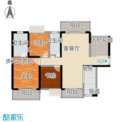 诚杰壹中心13.00㎡C1户型3室2厅2卫1厨