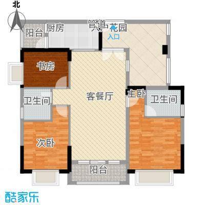 巴厘晓筑115.00㎡C1标准户型3室2厅2卫1厨