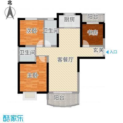 同人・怡和园一期15#楼标准层B1户型