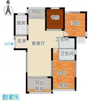 雍锦园yjy3户型3室2厅1卫1厨