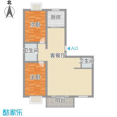 半山半水113.80㎡F-2户型2室2厅2卫1厨