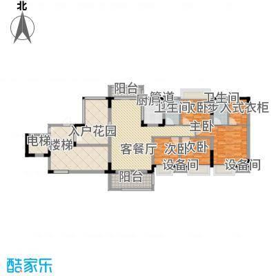 秋谷康城131.62㎡一期4栋二单元C户型4室2厅2卫
