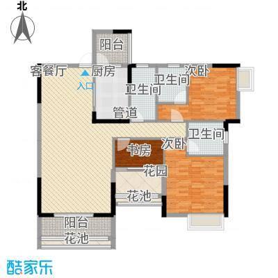 乐雅苑135.00㎡一期1幢03户型3室2厅3卫1厨