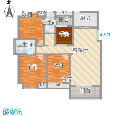 永鸿厦门湾1号126.00㎡2#高层户型4室2厅2卫1厨