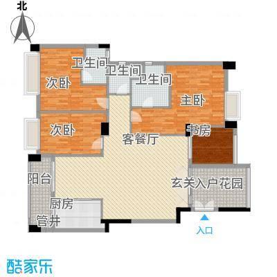 景观一品175.58㎡16栋户型4室2厅3卫1厨