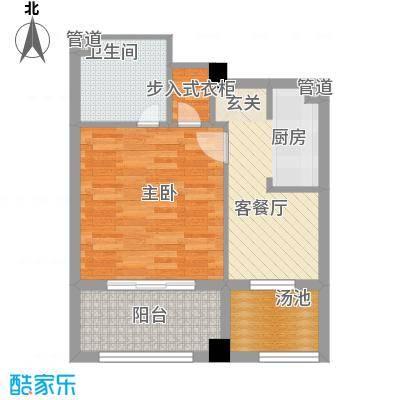 金汤湾海水温泉小镇65.00㎡三期丁香居户型1室1厅1卫1厨