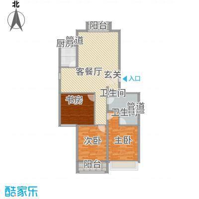 飞宇花园南区137.17㎡C户型3室2厅2卫