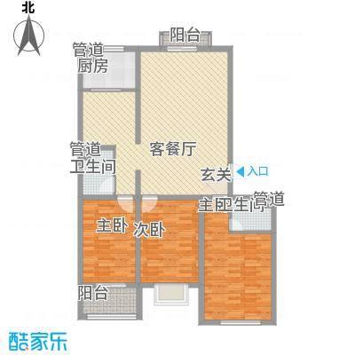 飞宇花园南区133.60㎡B1户型3室2厅2卫