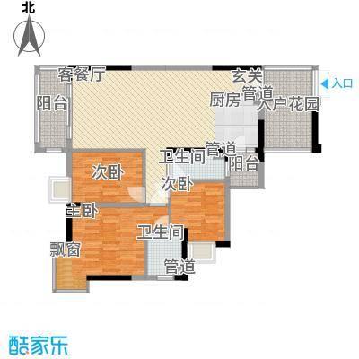 富盈加州阳光4栋01-02洋房户型