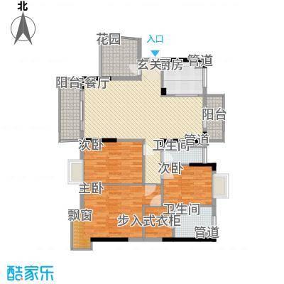 富盈加州阳光4栋03-04洋房户型