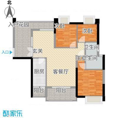 钰海山庄125.60㎡第1栋0户型3室2厅2卫