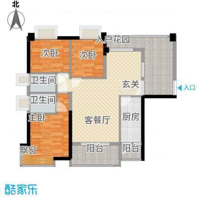 钰海山庄128.30㎡第1栋0户型3室2厅2卫