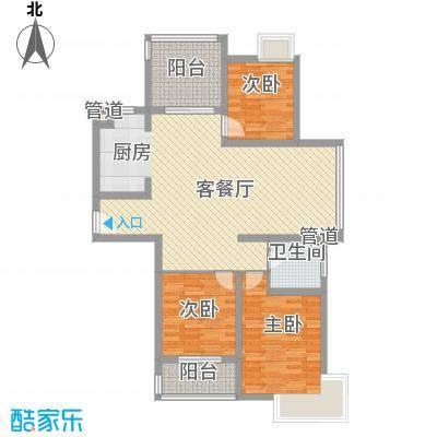 蓝天新苑12、13、17#标准层O户型