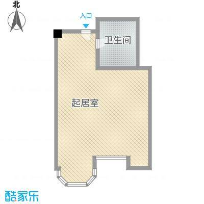 利佰佳国际公寓78.56㎡户型1室1厅1卫1厨