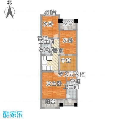 弗莱明戈11-B二层平面图户型3室2厅3卫2厨