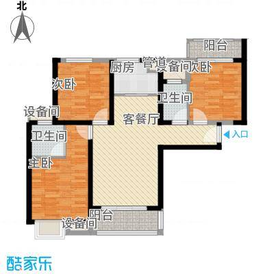 万益广场18.00㎡4#6#楼A户型3室2厅2卫