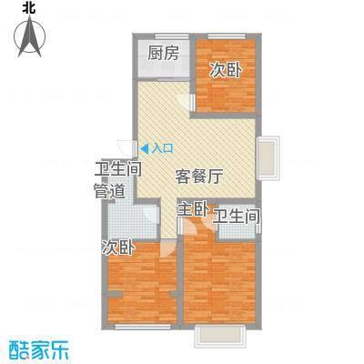 秦房里仁居7.30㎡H3户型3室2厅2卫