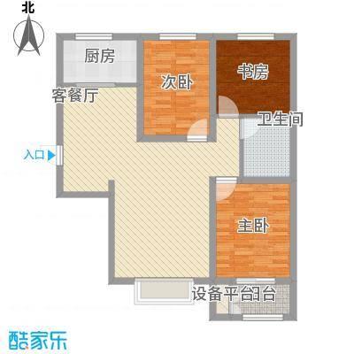 水岸丽景11.10㎡1#2#D户型2室2厅1卫1厨