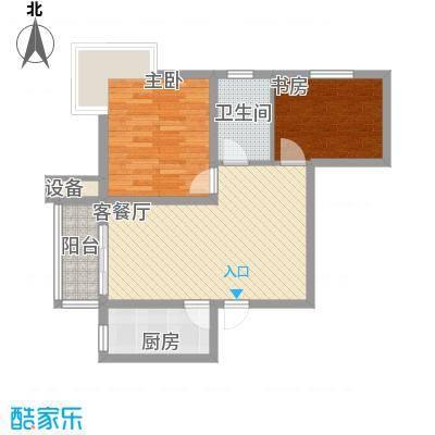 水岸丽景7.36㎡1#2#A户型2室2厅1卫1厨