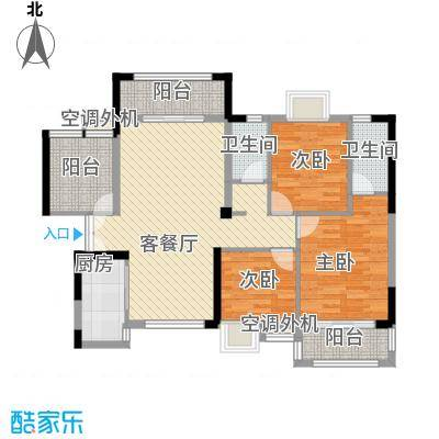 角美领秀御园G户型3室2厅2卫