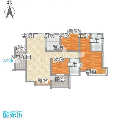 佳兆业水岸华都12.50㎡1栋0户型3室2厅2卫1厨