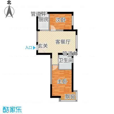 格林阳光城78.21㎡高层G5户型2室2厅1卫