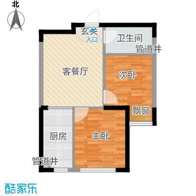 格林阳光城64.70㎡高层G1户型2室2厅1卫
