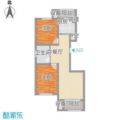丽景园5.16㎡户型2室2厅1卫