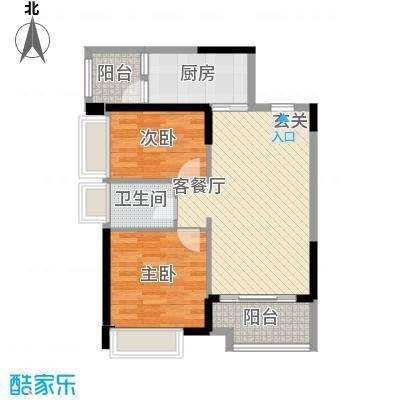 格力香樟87.21㎡3栋5栋04户型2室2厅1卫1厨
