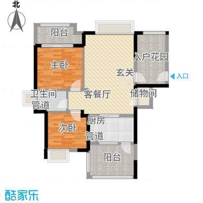 格力香樟3.38㎡2栋4栋01户型2室2厅1卫1厨