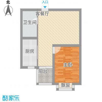里维埃拉・竹海65.27㎡户型1室1厅1卫1厨