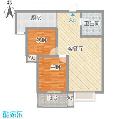 万水澜庭(西区)6.52㎡万水澜庭1号楼C户型2室2厅1卫