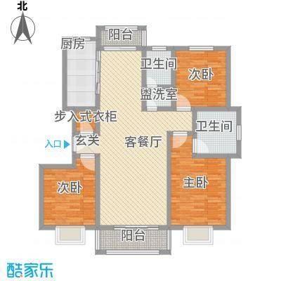 汇龙国际花园141.85㎡D户型3室2厅2卫