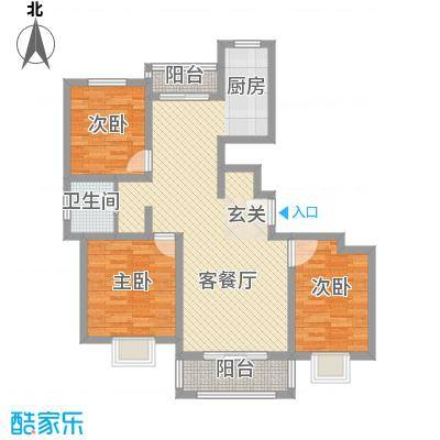 汇龙国际花园11.56㎡G户型3室2厅1卫