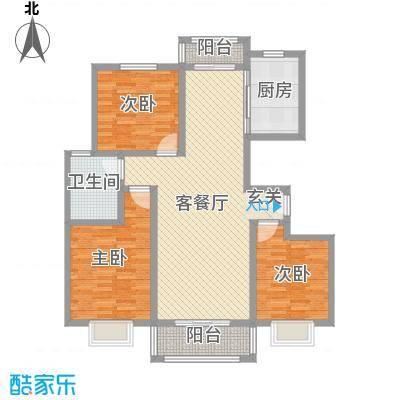 汇龙国际花园13.64㎡F户型3室2厅1卫