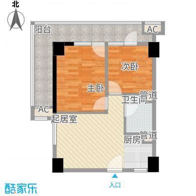 峰尚国际72.73㎡A-b3-01户型2室1厅