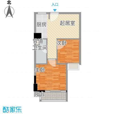 峰尚国际63.43㎡A-b1-01户型2室1厅1卫