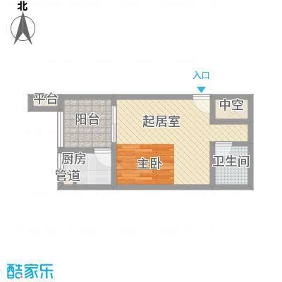 首创鸿恩国际生活区三期超高层1、2号楼标准层B户型
