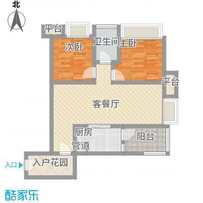 首创鸿恩国际生活区三期超高层1、2号楼标准层D户型