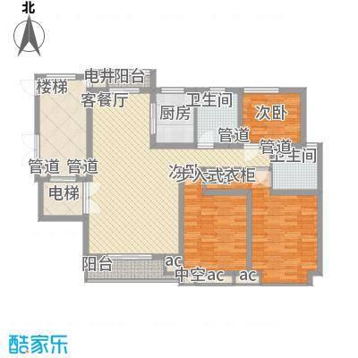 碧龙江畔144.83㎡F户型3室2厅2卫1厨