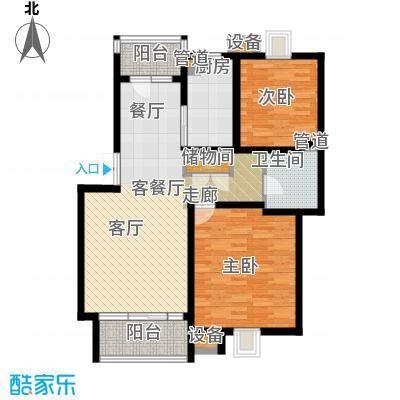 泰宸舒庭89.84㎡房型: 二房; 面积段: 89.84 -126.33 平方米;户型-副本