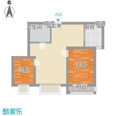 东盛世家8.30㎡Q户型2室2厅1卫