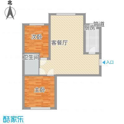 恒奥・凤凰城1.86㎡5号楼A户型2室1厅1卫1厨