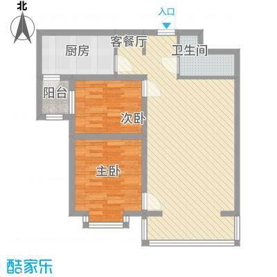 恒奥・凤凰城1.54㎡A户型2室1厅1卫1厨