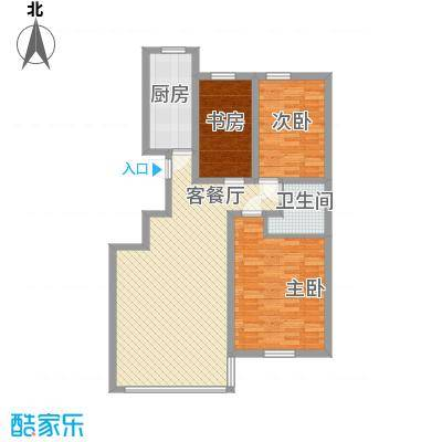 恒奥・凤凰城123.14㎡C户型3室2厅1卫1厨