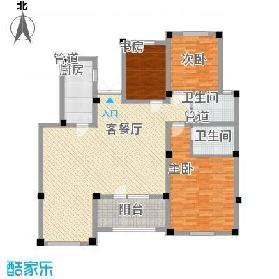 生态城公园360°154.31㎡21-33#楼四居户型4室2厅2卫1厨